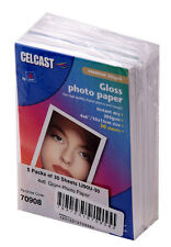 "3 x 5 Packs x 30 sheets 6""x 4"" Celcast Photo Gloss Paper 205gsm Total 450 sheets"