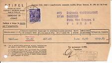 10-2-1945 c. 50 MONUMENTI VIAGGIATO SU FATTURA DELLA STIPEL DI COMO NON COMUNE