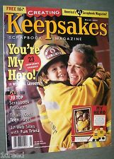 Keepsakes Scrapbook Magazine Your My Hero With Pattern March Issue 2001 Crafts