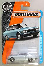 Matchbox 1:64 Scale 2016 Series '71 NISSAN SKYLINE 2000 GTX (BLUE CARD)