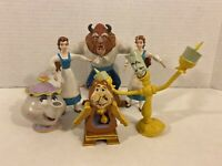 Lot of Beauty and the Beast Bendable Figures by Just Toys Vintage