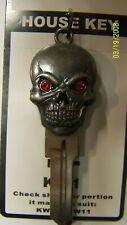 Skull 3D Kwikset KW1 house key blank.