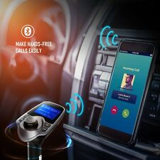 Wireless Bluetooth FM Transmitter Radio Car Kit MP3 Player USB Charger UK STOCK