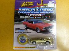 JOHNNY LIGHTNING MUSCLE CARS 1968 FORD SHELBY GT-500 GOLD & BLACK