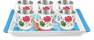 Multicolor Stainless Steel Cups for Coffee & Tea tray