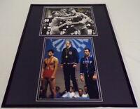 Dan Gable Signed Framed 16x20 Photo Display