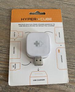 Hypercube PhotoCube Photo Back Up Cube iPhone/Android Charge Backup USB New