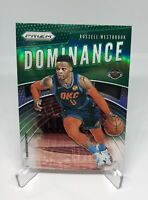 2019-20 Panini Prizm Green Dominance Russell Westbrook! OKC Rockets Wizards