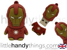 Lindo Marvel De Iron Man Usb 8 Gb Flash Drive Memoria pen/stick Regalo Llavero