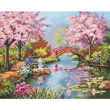 """Paint Works Paint By Number Kit 20""""X16""""-Japanese Garden, 91415"""