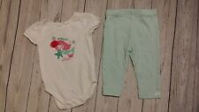 The Childrens Place Mermaid Bodysuit Turquoise Pant Legging 6-9 Month Baby Girl