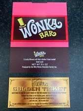 1 WILLY WONKA CHOCOLATE BAR Wrapper +1 Billet doré (chocolat non inclus)