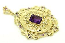 Pearl Yellow Gold Amethyst Fine Necklaces & Pendants