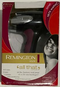Remington Style All That!  Hair Blow Dryer 1875 watts  model #D-3310 NEW