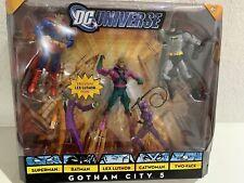 DC Universe Gotham City 5 Batman Two face Lex Luthor Catwoman Superman Set 2009