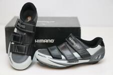 Shimano Women SH-R098W Road Bike Shoes 38 5 Gray Light Blue Cycling SPD-SL