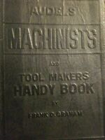 Audels Machinists and Toolmakers Handy Book by Frank Graham. 1942 Copy (Ind2310)