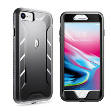 Apple iPhone 7 / 8 Case Poetic Shockproof Cover with Screen Protector Black
