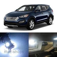 9x White SMD LED lights interior package kit for Hyundai Santa Fe 2013 - 2017 #