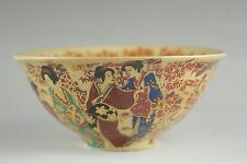 Antique style CHINESE FOLK ART Collection -- China old Painted porcelain bowls o