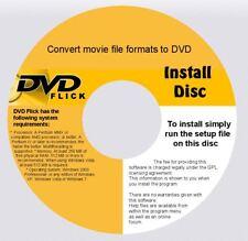 DVD RECORDING SOFTWARE CONVERTS MOVIE DIVX &  MORE