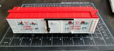 6-48314   American Flyer 1992 CHRISTMAS BOXCAR in box - Estate Sale Lots 69 & 70