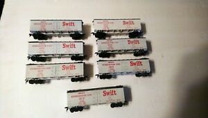 Vintage Varney HO Train Lot 7 Swift Rolling Stock Reefer Freight Cars 1950's