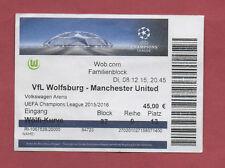 Orig.Ticket  Champions League  15/16  VfL WOLFSBURG - MANCHESTER UNITED ! SELTEN