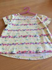 girls clothes 2-3 years Yellow Cotton Pink Red Purple Flowers Short Sleeved Top
