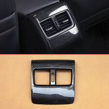 Rear Seat Armrest Box Air Outlet Carbon Fiber Look Covers For 10th Honda Accord