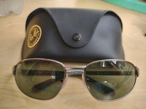 Ray-Ban Sunglasses RB 3106  col 3161  Gunmetal pre owned glass G15 lenses