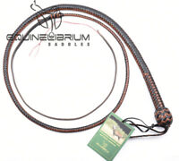 3 Foot 12 Plait Kangaroo Hide Leather Shot Loaded Snake Whip, Bullwhip