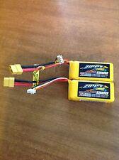 2 New Zippy Compact 1300mAh 3S 11.1V 25C 35C Lipo Battery Pack RC XT60 TURNIGY