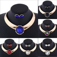 Fashion/Charm Jewelry Crystal Choker Chunky Statement Bib Pendant Necklace Chain