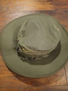 Vintage Junior Ranger Youth J-Hat Green Vented Camp Hat