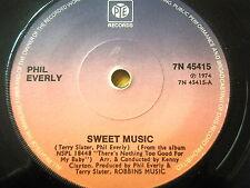 "PHIL EVERLY - SWEET MUSIC  7"" VINYL"