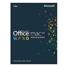 Microsoft Office Mac Home & Business 2011 Key Card (1 Mac/ 1 User) New Sealed