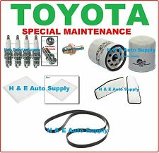 01-05 RAV4 (4 CYLINDERS) TUNE UP KITS: SPARK PLUG, BELT; AIR, CABIN & OIL FILTER