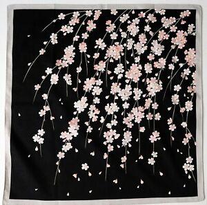 Japanese Furoshiki Cotton Wrapping Cloth Weeping Night Sakura Black Minor Defect