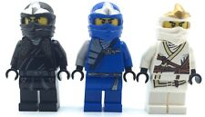 LEGO LOT OF 3 NINJAGO MINIFIGURES COLE JAY ZANE DX FIGURES GENUINE COLLECTIBLES