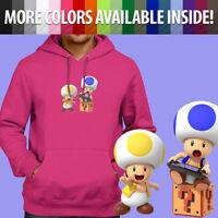 Nintendo Super Mario Toad Wii U Switch Gamer Pullover Sweatshirt Hoodie Sweater