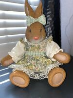 Vintage Russ Bunny Doll with Plastic head, feet, and Hands