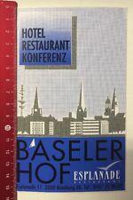 Aufkleber/Sticker: Baseler Hof - Esplanade Restaurant - Hamburg (08031661)