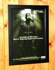 2002 Tom Clancy's Splinter Cell Rare Small Poster / Old Ad Page Framed PS2 Xbox