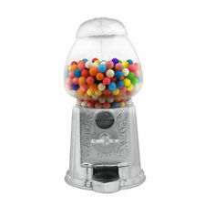 "9"" Gumball Candy Peanuts Machine Dispenser - Treats Coins - Silver Plated NIB"