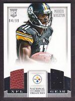 2013 National Treasures NFL Gear Combos Jersey #24 Markus Wheaton 84/99 Steelers