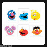 Sesame Street Tattoos - Party Favours x 12 pieces Birthday Party Supplies - Loot