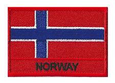 Ecusson coudre patche drapeau patch NORWAY Norvège 70 x 45 mm brodé