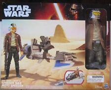 Star Wars The Force Awakens 12-inch Poe Dameron and Speeder Bike Exclusive New