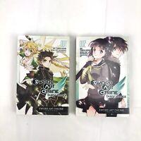 Sword Art Online Fairy Dance Volumes 1 & 2 Manga Books Tsubasa Haduki